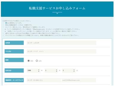 テクノプロ・キャリア・WEB登録フォーム