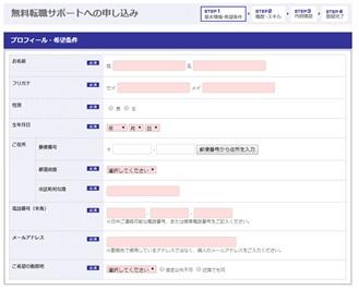 外資転職.com・WEB登録フォーム・プロフィール・希望条件