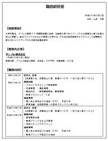 職務経歴書・編年体形式